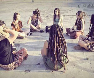 cool, dreads, and hair image