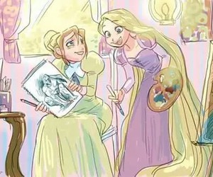 disney, tangled, and drawing image
