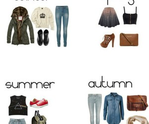 autumn, summer, and winter image