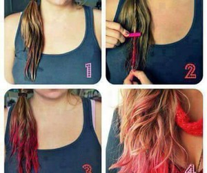 hair, pink, and tutorial image