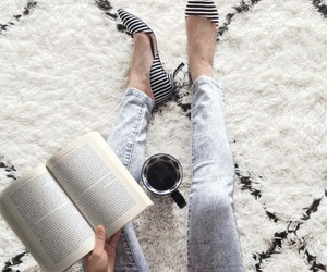 book, fashion, and heels image