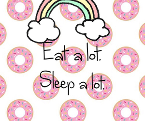 donuts, rainbow, and eat image