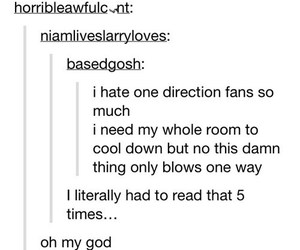 funny, one direction, and tumblr image