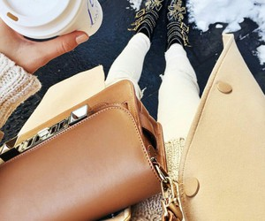 fashion, coffee, and neutrals image
