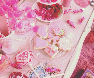 pink, party, and table image