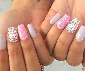 art, nails, and rosa image