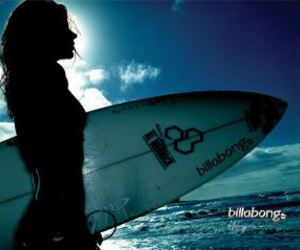 beach, surfer, and girl image