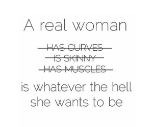 woman, quote, and curves image