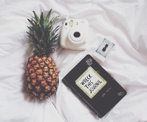pineapple, white, and tumblr image