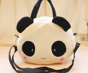panda, cute, and bag image