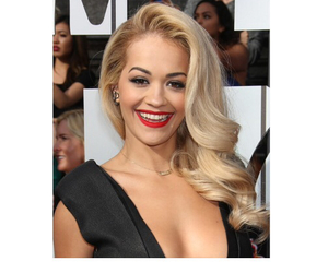 waves, rita ora, and old hollywood hairstyle image
