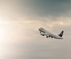 clouds, fly, and travel image