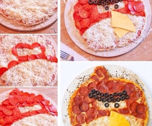 food, pizza, and angry bird image