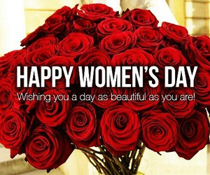 women's day, roses, and women image