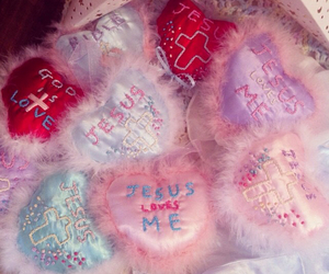 candy, frill, and heart image