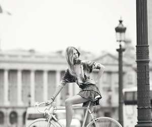 bike, black and white, and model image