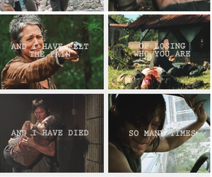 the walking dead, caryl, and daryl dixon image