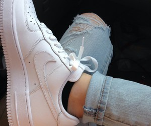girl, jeans, and nike image