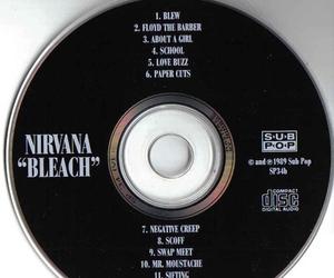 nirvana, bleach, and kurt cobain image