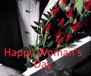 woman, woman's day, and roses image