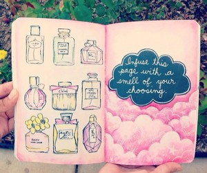 pink, book, and perfume image