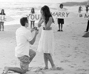 beach, marriage, and proposal image