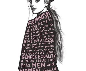 feminism, emma watson, and woman image