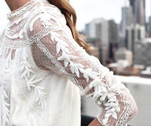 lace, top, and white image