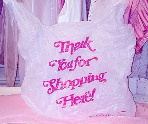 shopping, pink, and bag image