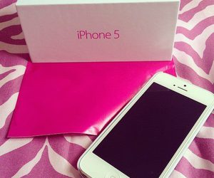 iphone, pink, and iphone 5 image