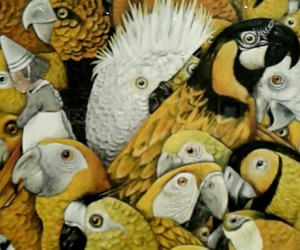 artist, birds, and love it image