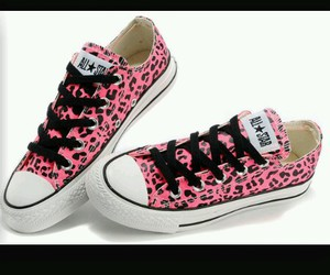 all star, converses, and leopard image