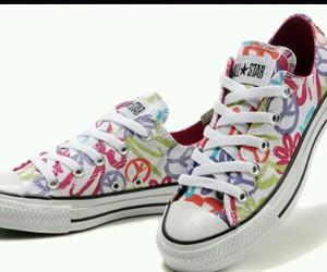 all star, converses, and peace and love image