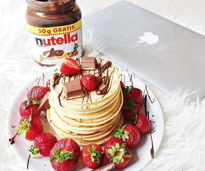 chocolate, nutella, and love food image