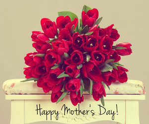 flowers, mother's day, and red image