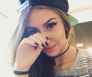girl, tumblr, and nails image