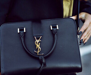 bag, YSL, and black image