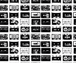 background, cassettes, and cool image
