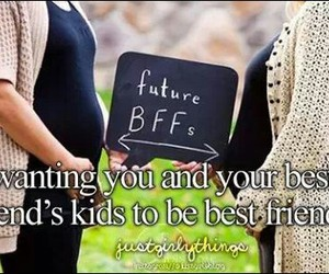 best friends, future, and kids image