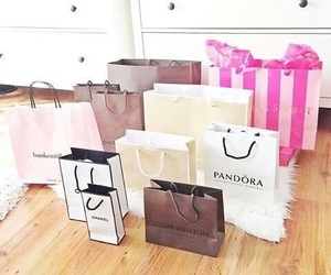 chanel, pandora, and shopping image