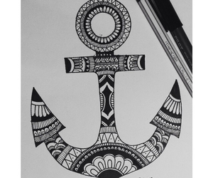 anchor, mandala, and tattoo image