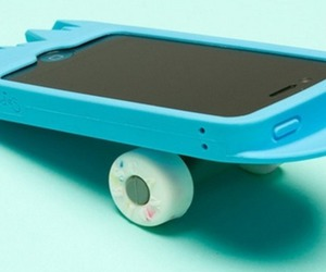 skateboard, case, and iphone image