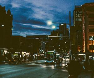 city, night, and sky image