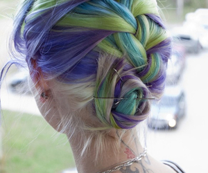 blue, goth, and Haistyle image