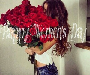 day, flowers, and womens image