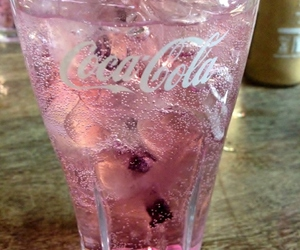 pink, drink, and coca cola image