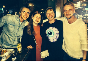 bonnie wright, james phelps, and tom felton image