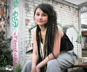 dreadlocks, girl with dreads, and dreads image