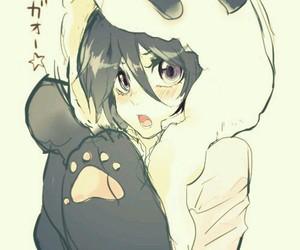 girl, manga, and panda image