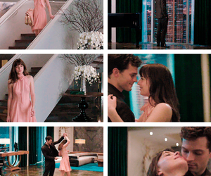 dakota johnson, christian grey, and fifty shades of grey image